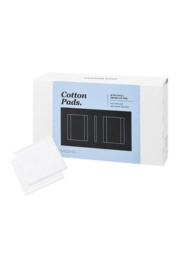 Missha Ürün Emmeyen Dayanıklı Pamuk %100 Pamuk Pedleri Cotton Pads (80Adet) Renksiz